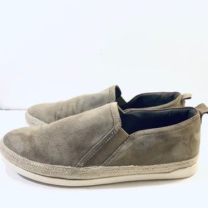 Marks & Spencer Gray Wide Fit Suede Rope Slip Ons